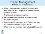 project management motiwalla and thompson 2011