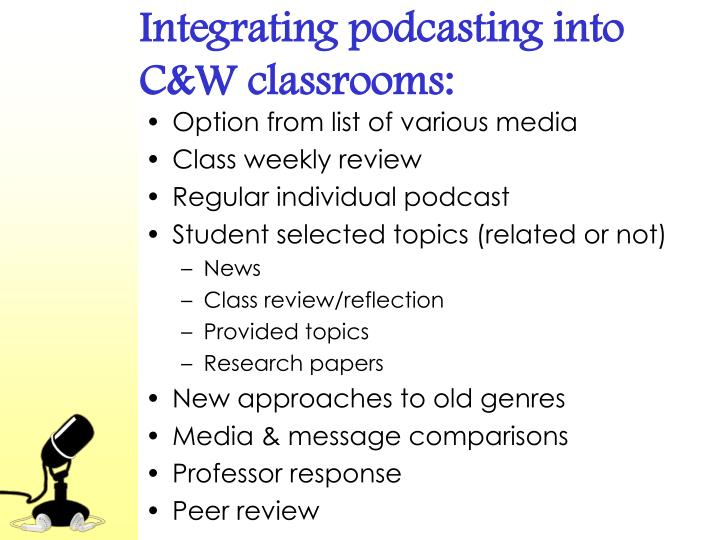 Integrating podcasting into