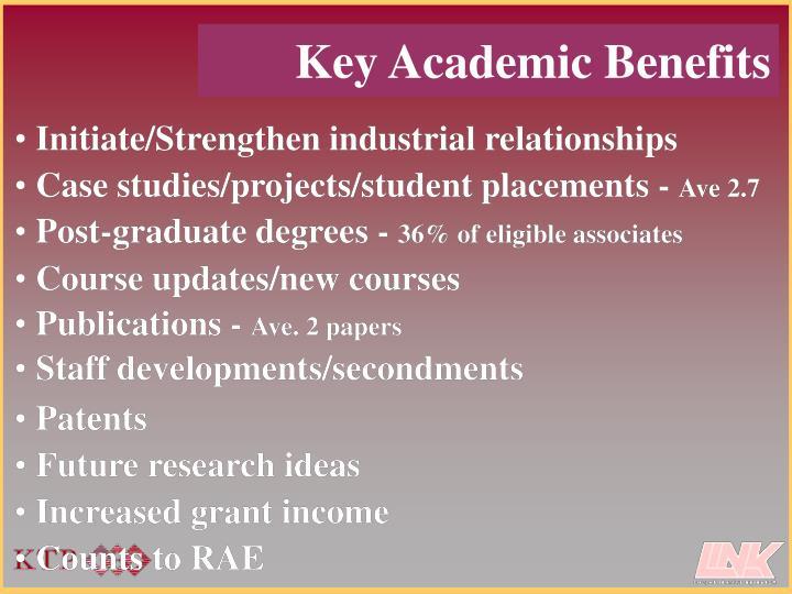 Key Academic Benefits