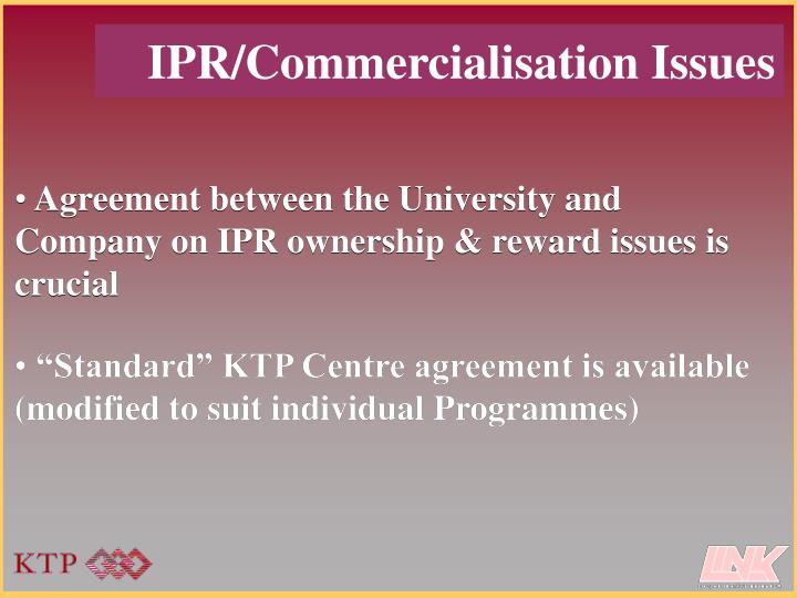 """Standard"" KTP Centre agreement is available (modified to suit individual Programmes)"