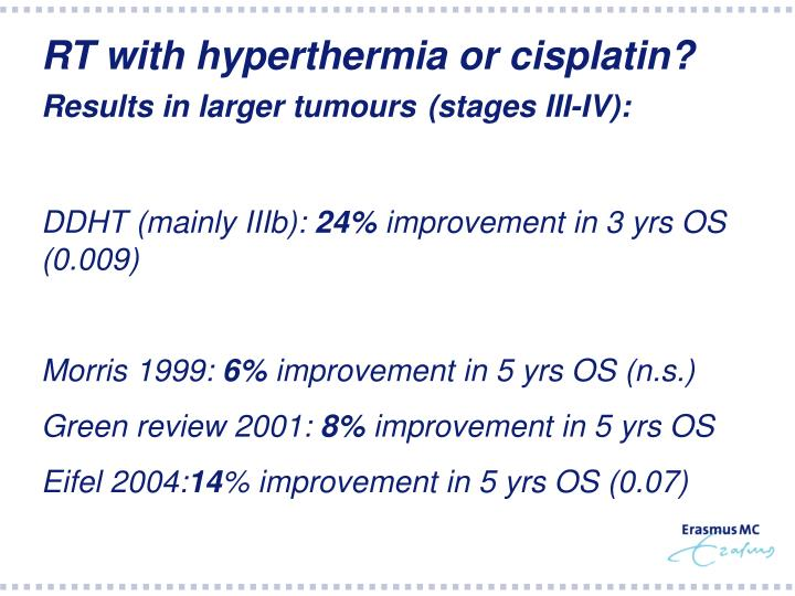 RT with hyperthermia or cisplatin?