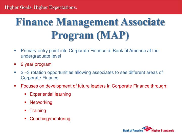 Finance Management Associate Program (MAP)