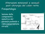 alterazioni minzionali e sessuali post chirurgia del colon retto11