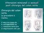 alterazioni minzionali e sessuali post chirurgia del colon retto4