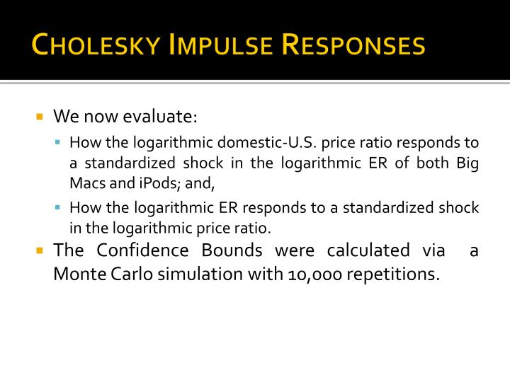 Cholesky Impulse Responses