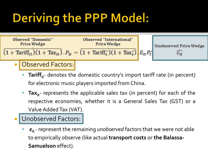 Deriving the PPP Model: