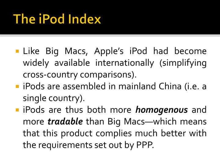 The ipod index