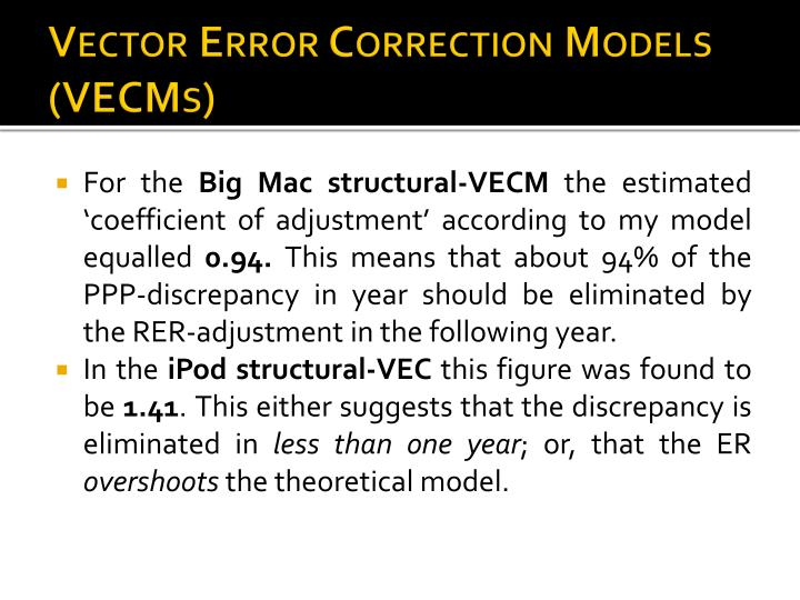 Vector Error Correction Models (VECMs)