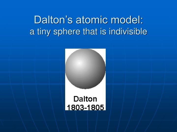 Dalton's atomic model: