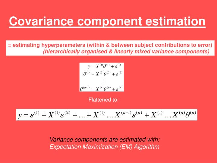 Covariance component estimation