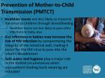 prevention of mother to child transmission pmtct