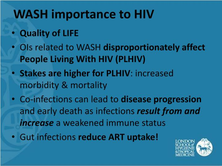Wash importance to hiv