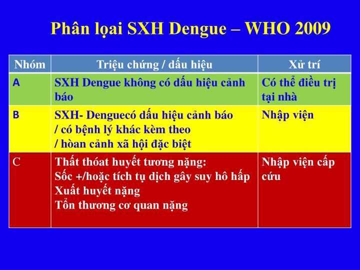 Phân lọai SXH Dengue – WHO 2009