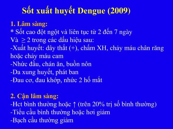 Sốt xuất huyết Dengue (2009)