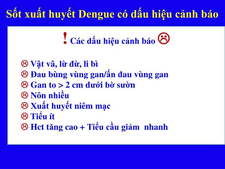 Sốt xuất huyết Dengue có dấu hiệu cảnh báo