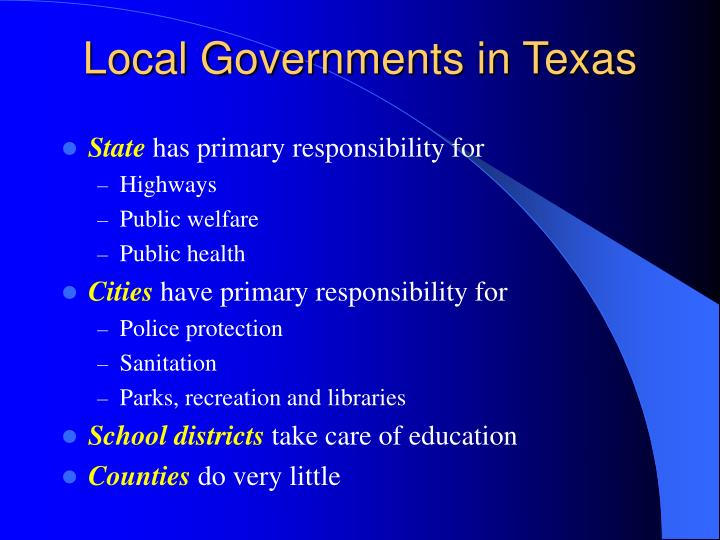 Local Governments in Texas