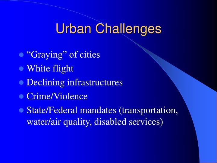 Urban Challenges