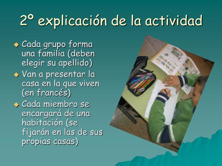 2º explicación de la actividad