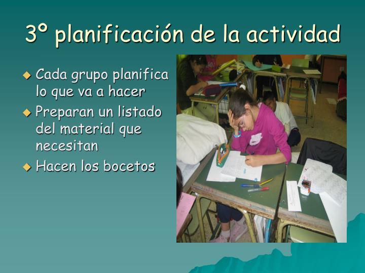 3º planificación de la actividad