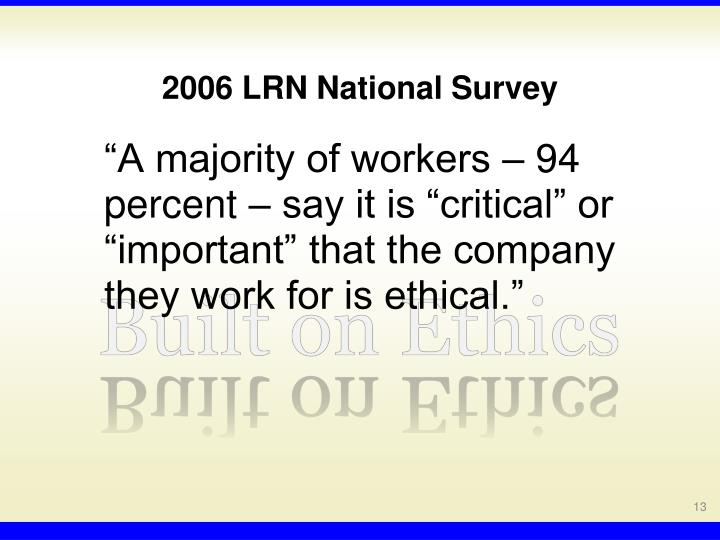 2006 LRN National Survey