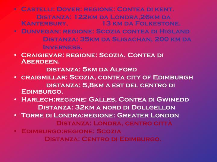 Castelli: Dover: regione: Contea di kent.