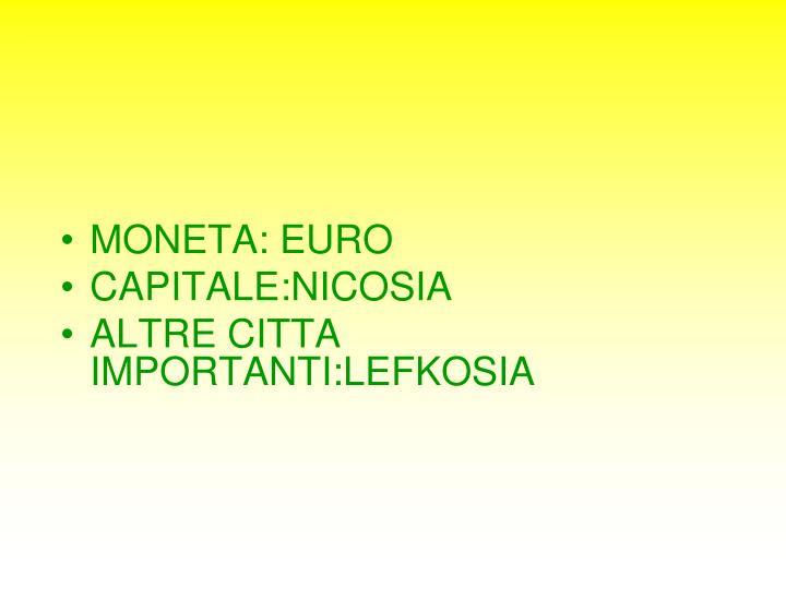 MONETA: EURO
