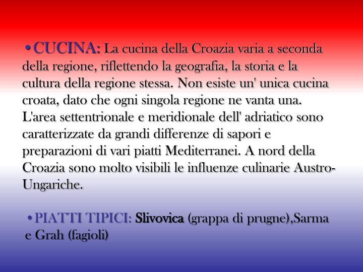 •CUCINA: