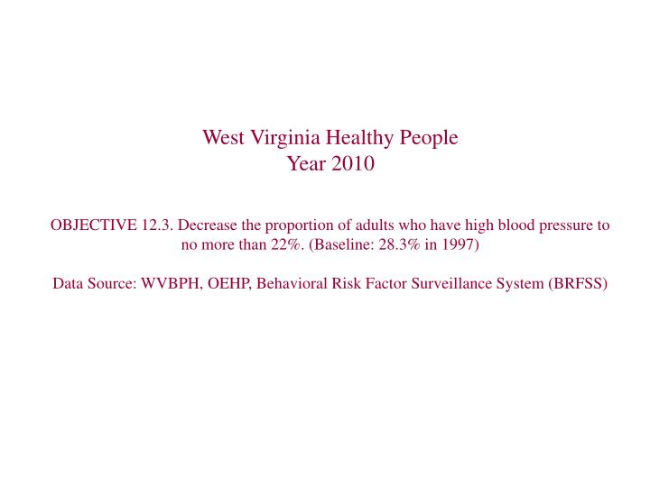 West Virginia Healthy People