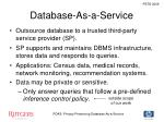 database as a service