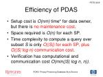 efficiency of pdas