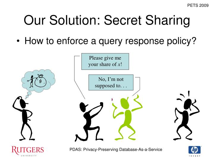 Our Solution: Secret Sharing