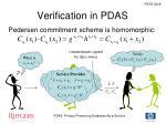verification in pdas2