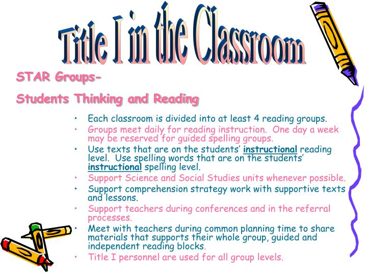 Title I in the Classroom