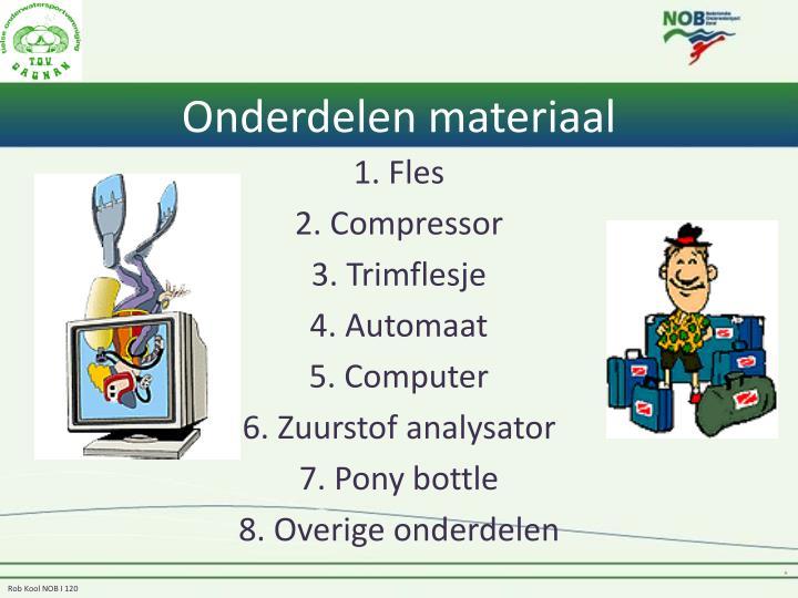 Onderdelen materiaal