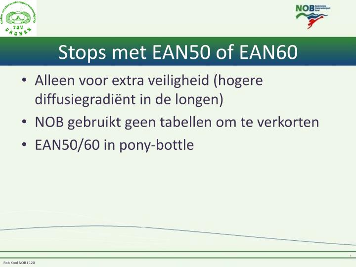 Stops met EAN50 of EAN60