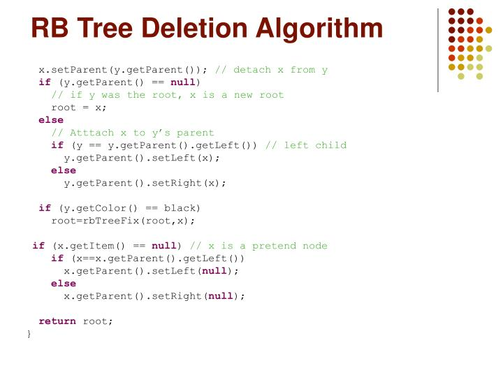 RB Tree Deletion Algorithm