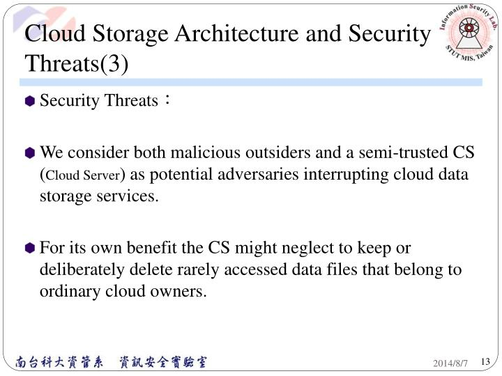 Cloud Storage Architecture and Security Threats(3)