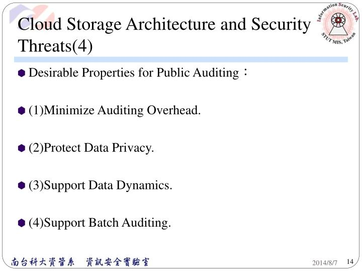 Cloud Storage Architecture and Security Threats(4)