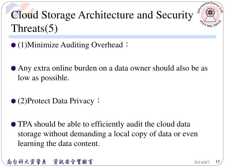 Cloud Storage Architecture and Security Threats(5)