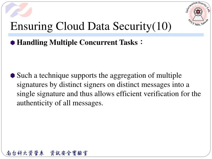 Ensuring Cloud Data Security(10)