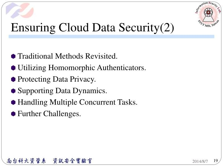 Ensuring Cloud Data Security(2)