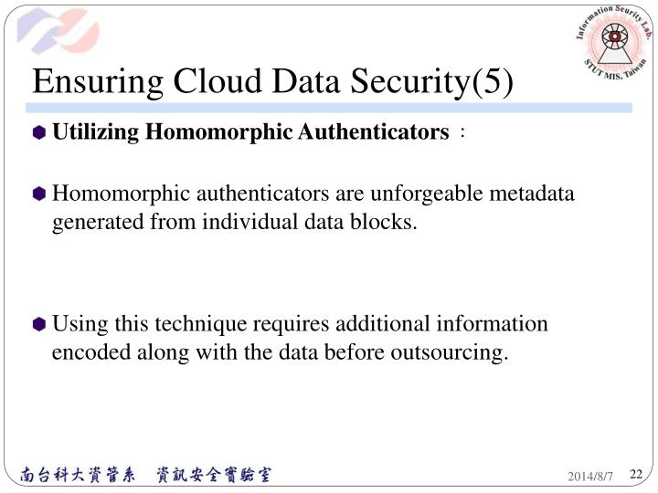 Ensuring Cloud Data Security(5)