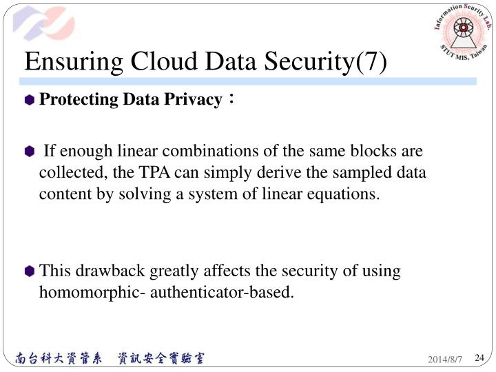 Ensuring Cloud Data Security(7)
