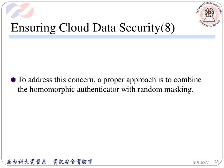 Ensuring Cloud Data Security(8)