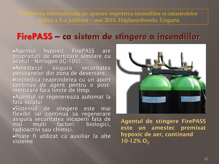 Conferinta internationala de aparare impotriva incendiilor si catastrofelor