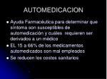 automedicacion