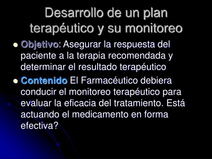 Desarrollo de un plan terapéutico y su monitoreo