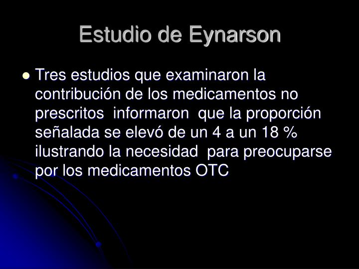 Estudio de Eynarson