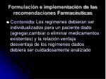 formulaci n e implementaci n de las recomendaciones farmac uticas1