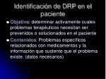 identificaci n de drp en el paciente